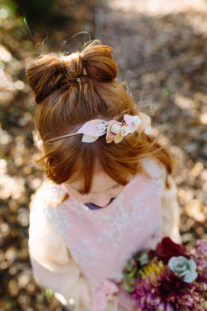 Lilly hair band by Jen Levet, Dress Design by Felicity Westmacott, Photography by Jessica Partridge, Frost on the Leaves Photoshoot