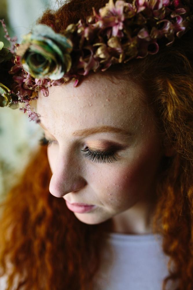 Beautiful Katja Cemic, Make-up by Charlotte Light, Flowers by Muscari Whites,