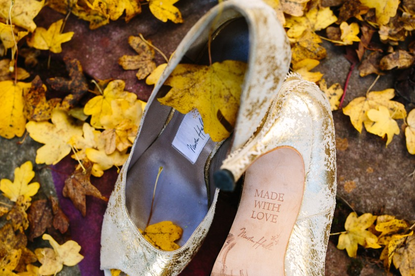 Bespoke wedding shoes by Marsha Hall: Design by Felicity Westmacott, Photography by Jessica Partridge, Frost on the Leaves Photoshoot: