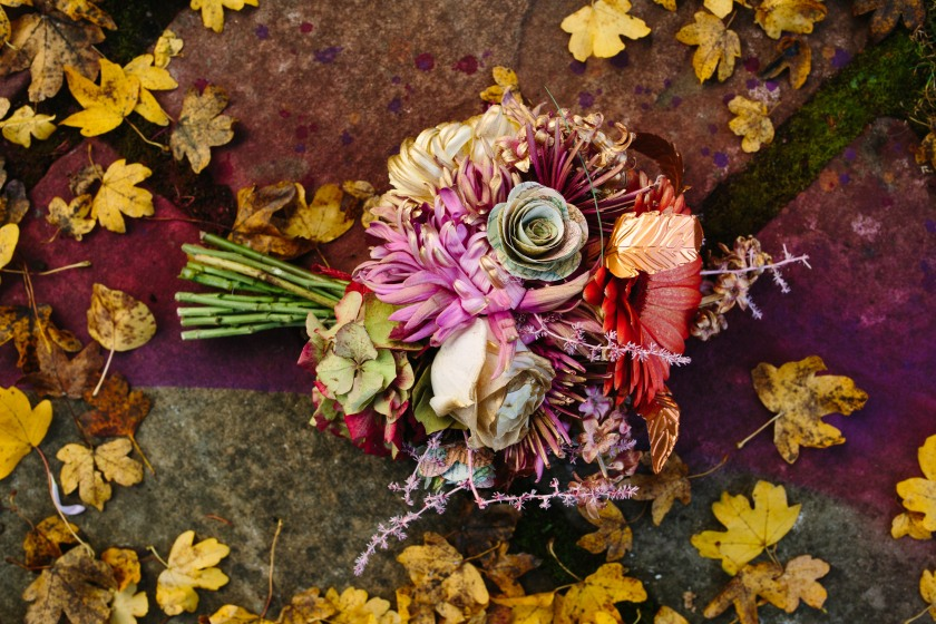 Bouquet by Muscari Whites : Design by Felicity Westmacott, Photography by Jessica Partridge, Frost on the Leaves Photoshoot,
